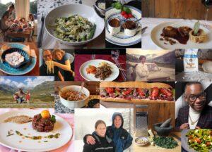 Collage gerechten en mensen onslievelingsgerecht