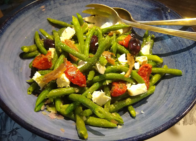Salade met zure sperzieboontjes van Marcel Maassen