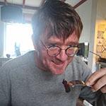 Jan Heemskerk geniet van de bloedworst met foie gras lievelingsgerecht René Brienen
