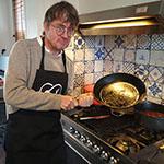 Jan Heemskerk is klaar met de ossobuco