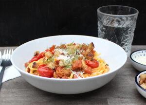 Pasta met venkel en chorizo en tomaat van Edward Hermans