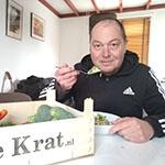 Marcel kan de risotto met zeekraal en avocado van Femke Merel van Kooten zeer waarderen