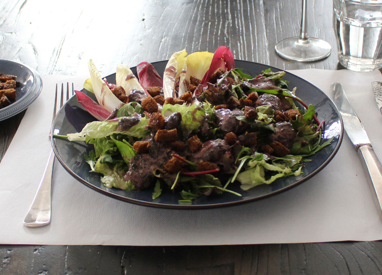 Salade gésiers de canard gekonfijte eendenmaagjes lievelingsgerecht Daphne Gouweloos