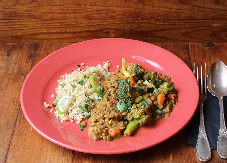 Vegan groene curry van Wendy Walrabenstein