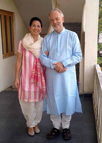 Wendy en Leo in India