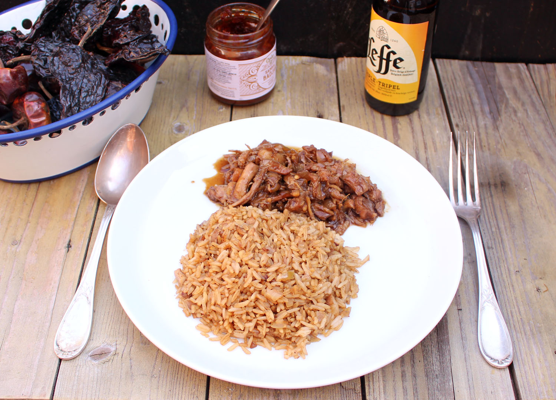 Gortdroge nasi goreng en pulled chicken van Nico Dijkshoorn