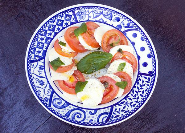 Caprese salade ons lievelingsgerecht